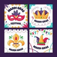 mardi gras-kortsamlingar