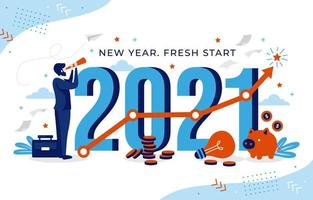 2021 nyår karriärmål vektor
