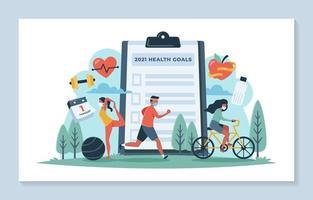 Gesundheitsziele im Jahr 2021 vektor