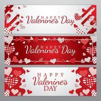 Valentinstag Banner Konzept vektor