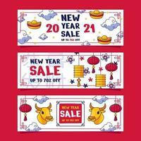 kinesiska nyår försäljning banner vektor