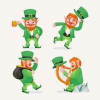 st. patrick's day leprechaun character vektor