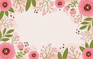 einfacher rosa Blumenhintergrund vektor