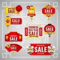 chinesisches Neujahrsverkaufslabel vektor