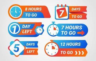 modernes Countdown-Label vektor