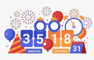 buntes Countdown-Konzept vektor