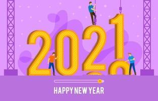 Frohes neues Jahr Countdown 2021
