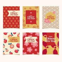 vackra kinesiska nyår festliga kort