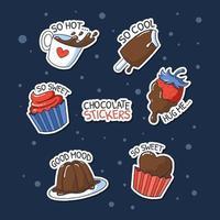 Valentinstag Schokoladenaufkleber vektor