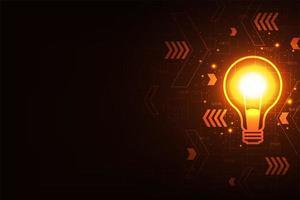 Technologie Hintergrund Glühbirne Vektor in kreativen Stil