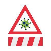 covid19 Pandemieteilchen im Alarmzeichen