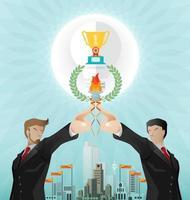 Teamwork für einen erfolgreichen Geschäftsvektor vektor