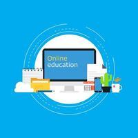 online-klasser, virtuellt klassrumskoncept vektor
