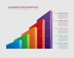 Geschäftskonzept Infografik Design Vektor-Illustration