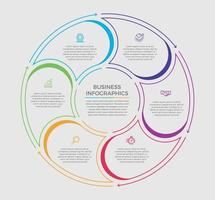 affärsidé infographic design vektorillustration