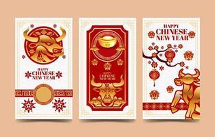 lyckliga kinesiska nyårsbanners vektor
