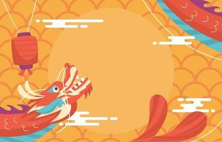 chinesischer Neujahrsfeierhintergrund vektor