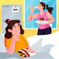livet hälsosamt 2021 vektor