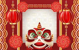 festlighet bakgrund av kinesiska nyåret vektor