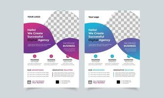 Corporate Business Flyer Design-Vorlage, kreative Broschüre Poster Cover, Farbe A4 Print Ready Flyer