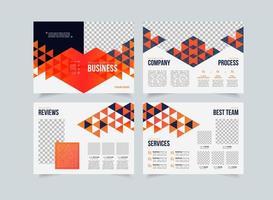 Kreative Vorlage für Unternehmensvorschläge, Design von Mehrzweckbroschüren, geometrisches Design für Geschäftsvorschläge, vertikales A4-Format