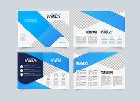 företagsförslag kreativ mall, multifunktionell broschyrdesign, affärsrekvisit geometrisk design, vertikalt A4-format vektor