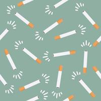 nahtloser Musterhintergrund der Zigarette vektor