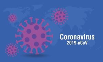 bakgrund av partiklar 2019 ncov coronavirus