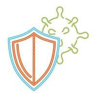 coronavirus 2019 ncov skydd sköld ikon