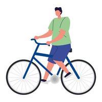 Mann fahren mit dem Fahrrad, junger Mann Fahrrad, sportliche Aktivität