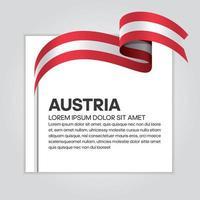 Österreich abstraktes Wellenflaggenband vektor