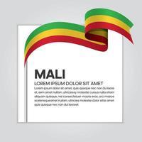 Mali abstraktes Wellenflaggenband vektor