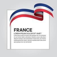 Frankreich abstrakte Welle Flagge Band vektor