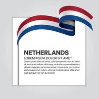 abstrakte Wellenflaggenband der Niederlande vektor