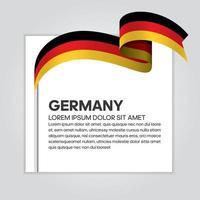 deutsches abstraktes wellenflaggenband vektor