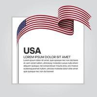 USA abstraktes Wellenflaggenband vektor