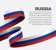Russland abstrakte Welle Flagge Band vektor