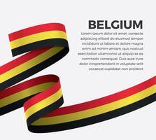 belgien abstrakt våg flagga band vektor