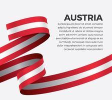 Österreich abstraktes Wellenflaggenband