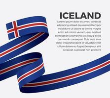 Island abstrakte Welle Flagge Band vektor