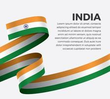 Indien abstrakte Welle Flagge Band vektor