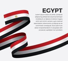 Egypten abstrakt våg flagga band vektor