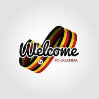 Willkommen in Uganda vektor