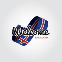 Willkommen in Island vektor