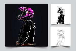 Reiter Kunstwerk Illustration vektor