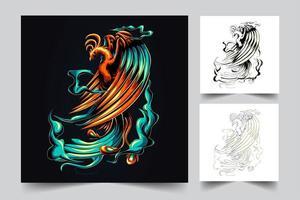 Phoenix Kunstwerk Illustration vektor