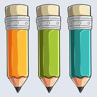 kritor - tre färgad pennuppsättning vektor