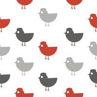 kyckling sömlös bakgrund vektor