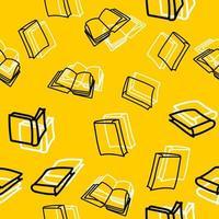 handritade svarta böcker sömlösa mönster vektor