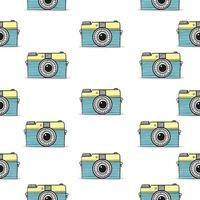 retro kamera doodle handritade sömlösa mönster